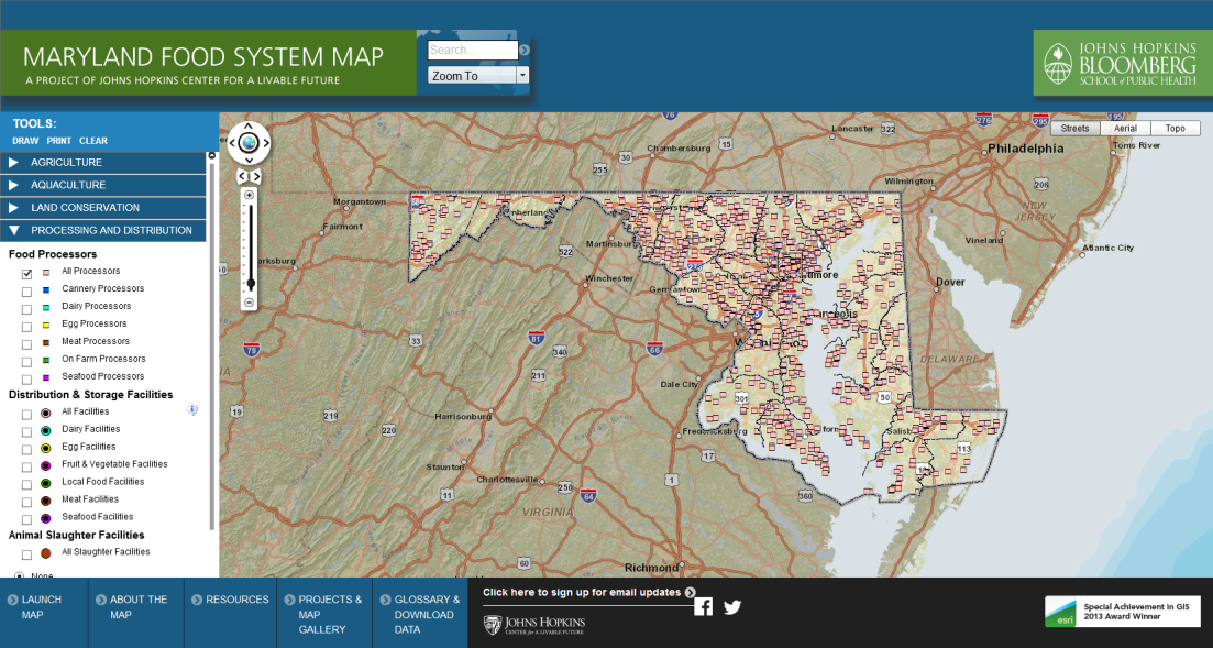 MD Food System Map  Economic Impacts of Local and Regional Food